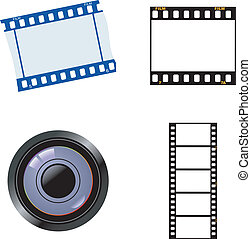 Set of photographic objects