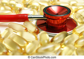 Fight Heart Disease - A macro shot of a stethoscope and...