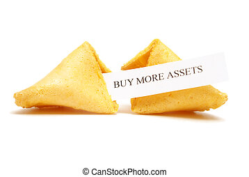 Fortune Cookie of Assets - A cracked open fortune cookie...