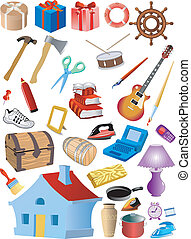 set of different objects