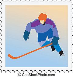 hockey on stamp