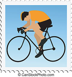 cycling on stamp