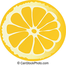 Illustration of lemon slice