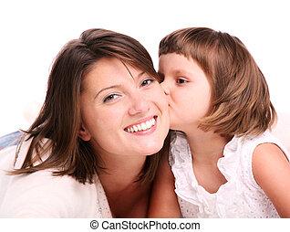 Kissing my mom