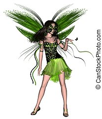 Butterfly Fairy - Green