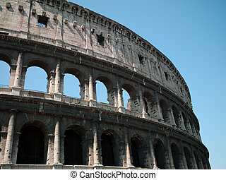 Coliseum. Architectural structure in Rome since the Roman...
