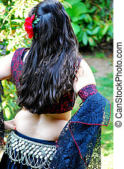 Belly dancer. - Belly dancer waiting to go on stage.