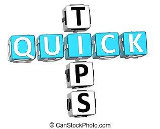 3D Quick Tips Crossword