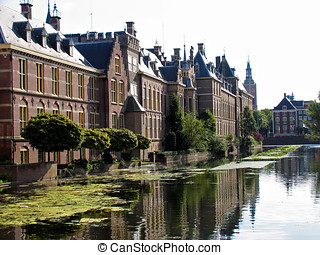 Street view in Hague, Netherland