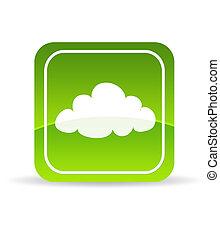 Green Cloud Computing Icon