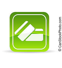 Green Credit Debit Card Icon - High resolution green credit...