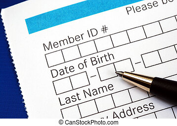 Fill in the personal information in the form isolated on...