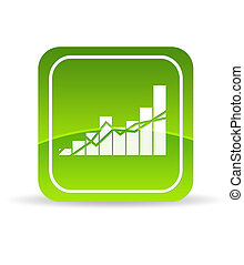 Green Profit Icon - High resolution green Profit Chart Icon...