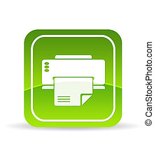 Green Printer Icon