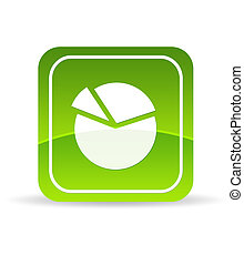 Green business Pie Chart Icon