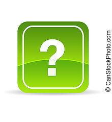 Green Question Mark Icon - High resolution green question...
