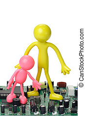 Information Technology Education - Colorful rubber figurines...