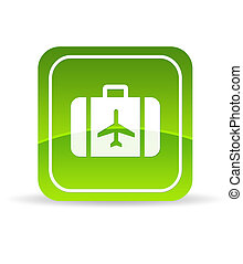 Green Travel Icon - High resolution green travel icon on...