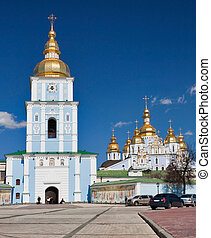 church complex in Kiev - St Michaels Golden-Domed Monastery...