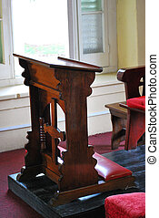 Pulpit in a place of worship