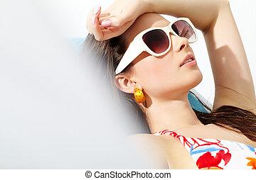Sunbathing girl