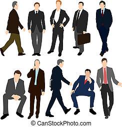 Set of Men in Suits