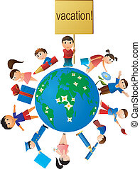 childrens on vacation