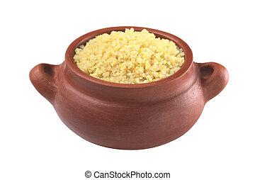 ser, cocinado, comido, Quinoa, frente, proteínas, quinoa),...