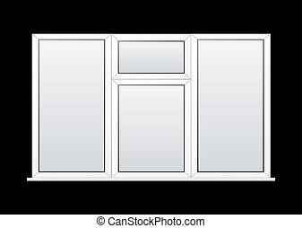 Plastic window - Modern white double glazed plastic window...