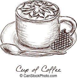 cup of coffee - doodle picture