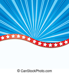 Background with elements of USA flag, vector illustration