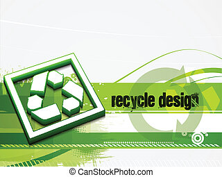 recycle baner background - abstract recycle green and white...