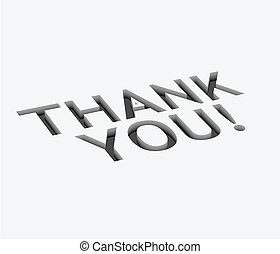 vector thank you text design - 3d vector thank you text...