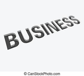 vector business text design - 3d vector business text design...
