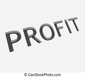 vector profit text design