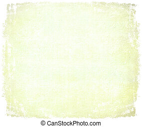 Handmade aged paper with edge isolated - Handmade aged paper...