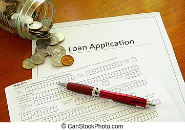 Loan application and coin jar