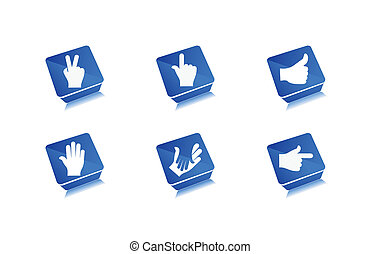 human hands icon, elements for your icon design
