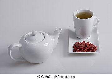 goji tea - simple presentation for goji fresh antioxidant...