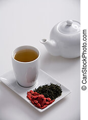 wolfberry tea - simple presentation for goji fresh...