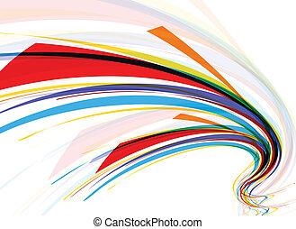 abstract wave line background - abstract colorful wave line...