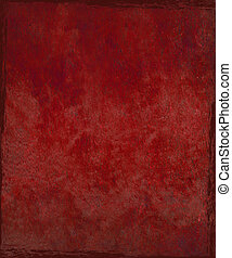 Stained red plaster background