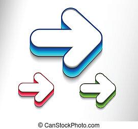 arrows icon set