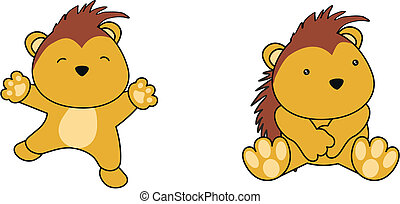 porcupine baby cartoon in vector format