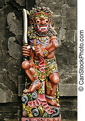 religious statue in bali indonesia temple
