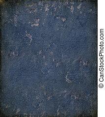 Blue grunge plaster with burnt frame
