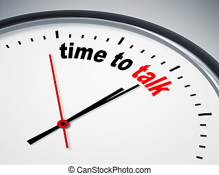 time to talk - An image of a nice clock with time to talk