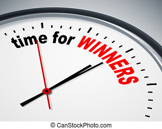 time for winners - An image of a nice clock with time for...