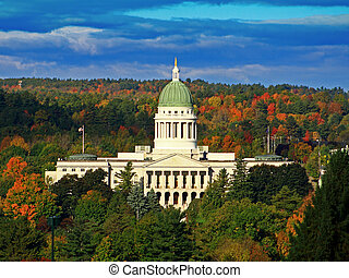 Maine State House - The Maine State House, shot from across...
