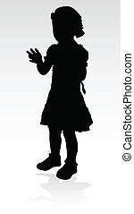 young girl black silhouette